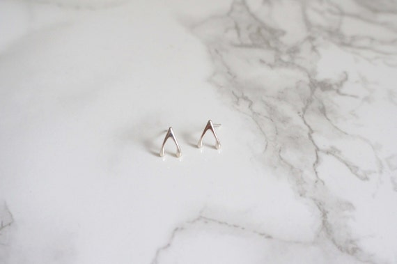 Silver Wishbone Earring