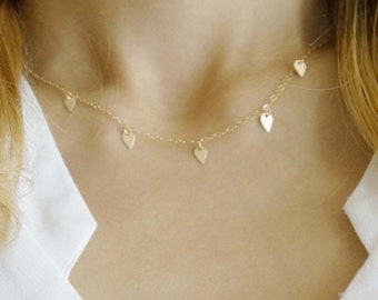 Gold Filled Tiny Lotus Petal Necklace / gift for her / delicate necklace