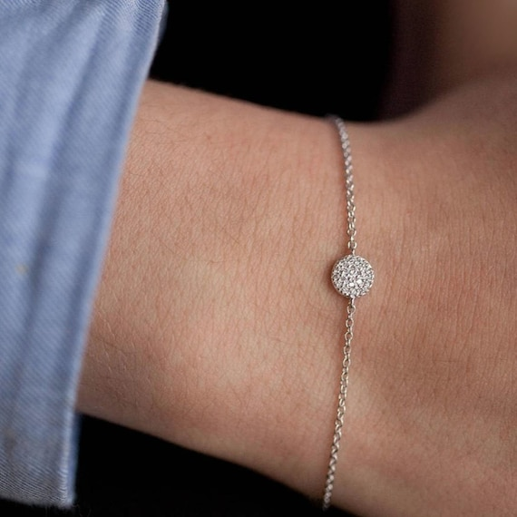 Rhinestone Disc Circle Bracelet