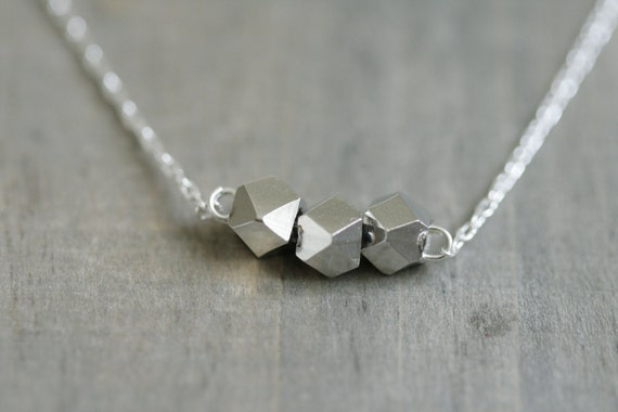 Silver Nugget Necklace