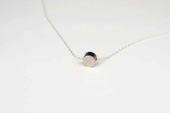 Silver Tiny Dot Necklace