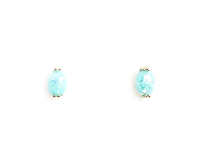 Mint Fire Opal Post Earrings