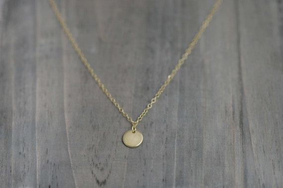 Gold Filled Tiny Dot Necklace