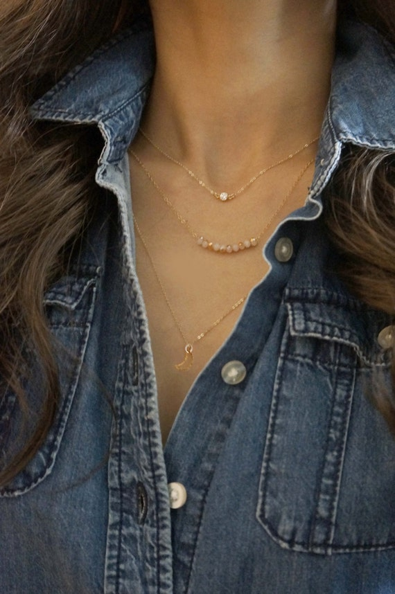 Delicate Layered Set of 3 Necklaces