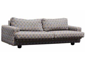 Contemporary Modern Dellarobbia Long Sofa Couch Italian Style 1980's