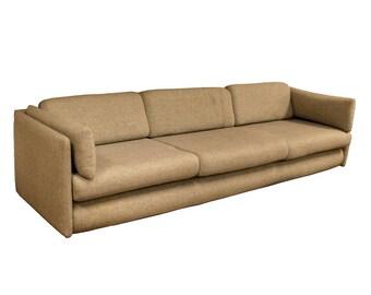 Mid Century Modern Vintage Dunbar Three Seat Sofa 1960s
