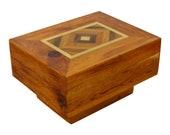 Mid Century Modern Burl Wood Brass Side End Coffee Cube Table Baughman Style