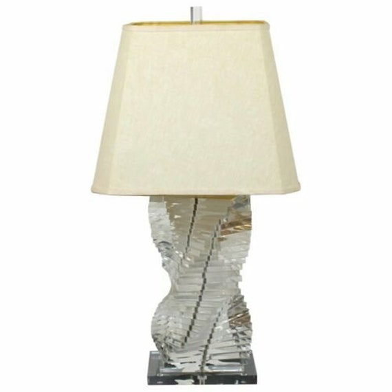 Mid century Stacked Lucite Lamp
