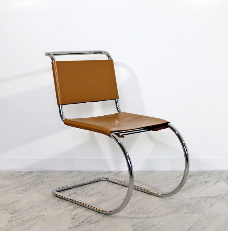 d5da4c4789a8 Mid Century Modern Mies Van der Rohe Knoll MR Leather Chrome