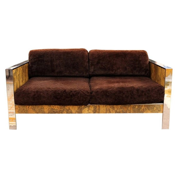 Admirable Mid Century Modern Adrian Pearsall Chrome Cork Loveseat 1970S Baughman Style Onthecornerstone Fun Painted Chair Ideas Images Onthecornerstoneorg