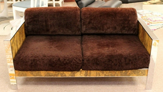 Awe Inspiring Mid Century Modern Adrian Pearsall Chrome Cork Loveseat 1970S Baughman Style Onthecornerstone Fun Painted Chair Ideas Images Onthecornerstoneorg