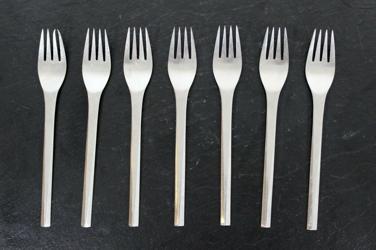 Georg Jensen Stainless Prism Matt Meat Fork