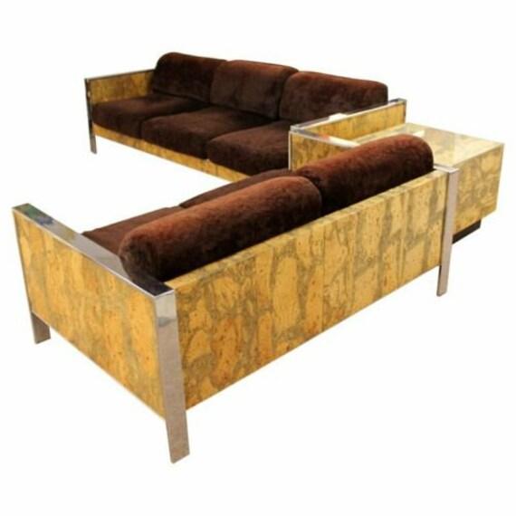 Brilliant Mid Century Modern Adrian Pearsall Chrome Cork Sofa Loveseat End Table Set 1970S Short Links Chair Design For Home Short Linksinfo