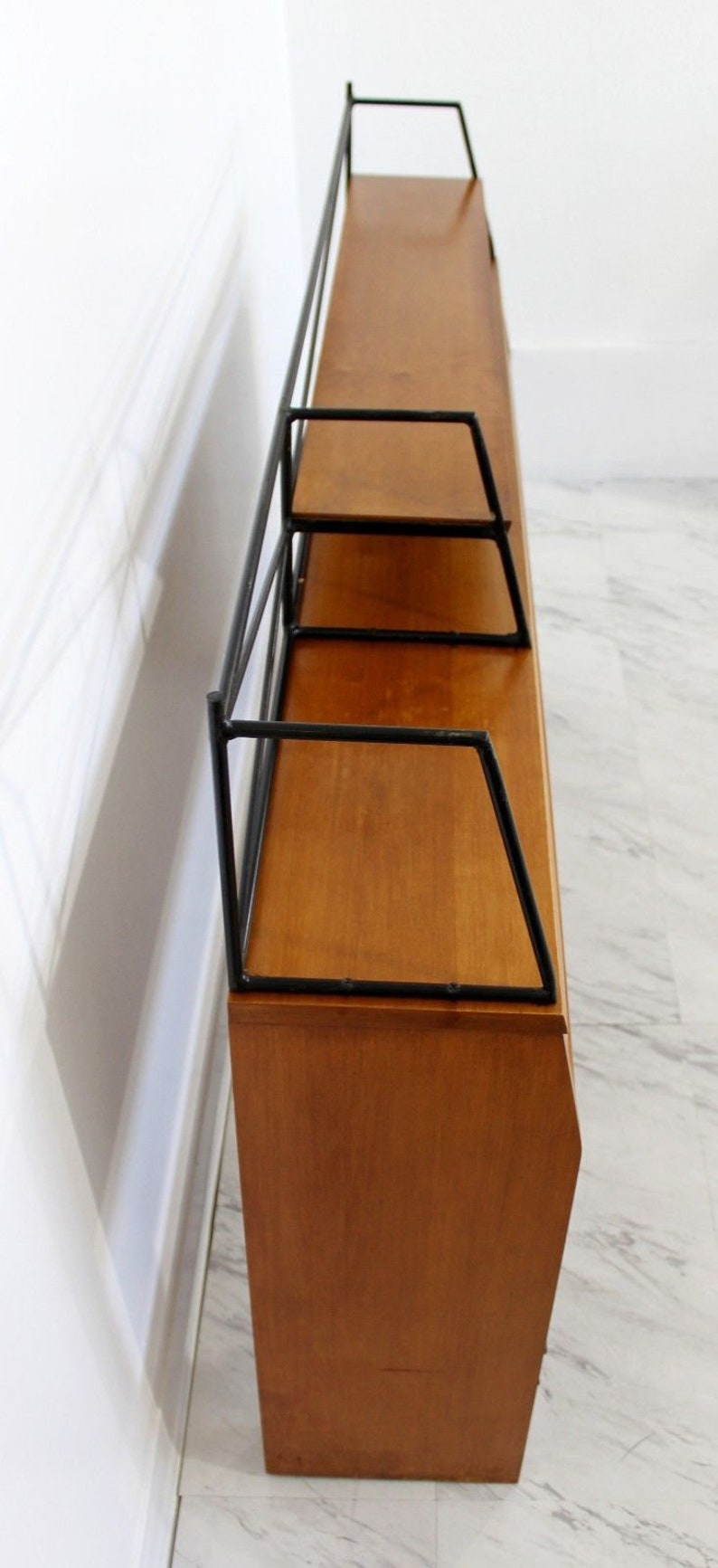 Mid Century Modern Paul McCobb Winchendon Headboard Iron /& Wood w Shelf 1950s