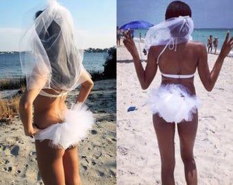 Bikini Veil, Hair Veil, Booty Veil, Hen Party