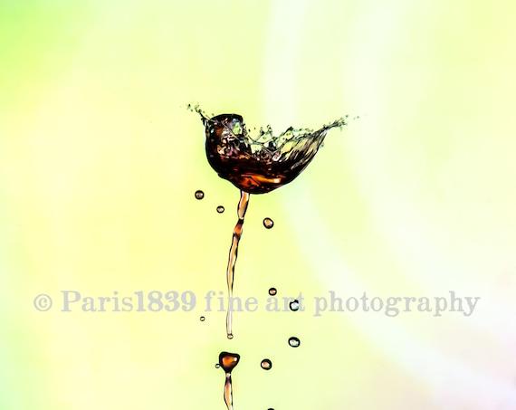 DIGITAL DOWNLOAD, Yellow Art, Water Drop Photography, Bedroom Picture Ideas, Water Drop Images, Bedroom Wall Art, Printable Print, Room Art