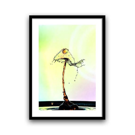 Water Drop Print, Wall Art Water, Macro Photo Print, Droplet Wall Art, Cool Water Drops, Water Drop Poster, Digital Print, Instand Download