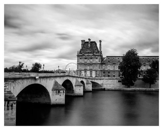 Paris photography - Louvre museum - Fine art photography - View of river Seine - Paris - French home decor - Paris decor -  fine art print