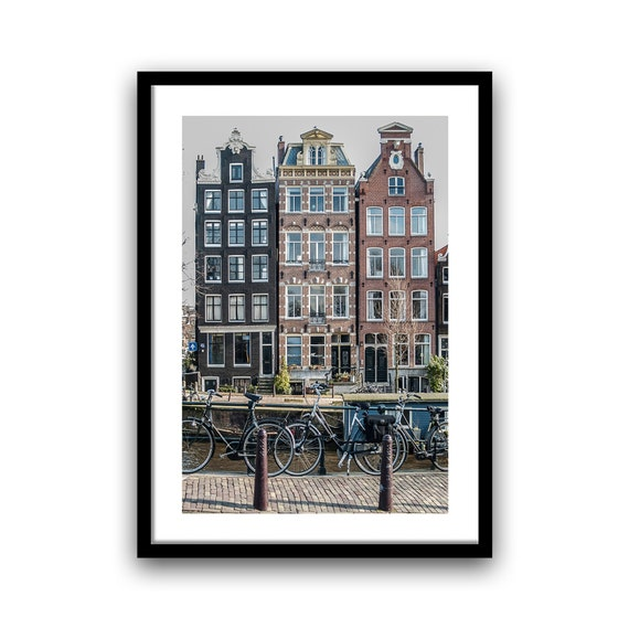 Bedroom Wall Decor, Amsterdam photography, Canal Houses, 5x7, 8x12, Wall Decor, Travel Photo, Windows, Home Decor, fine art photograph