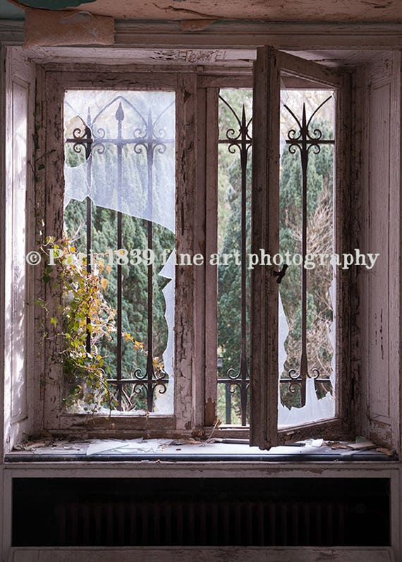 DIGITAL DOWNLOAD, Old Window Decor, Window Wall Art, Digital Fine Art, Urban Decay Photography, Livingroom Decor, Livingroom Wall Art, Brown