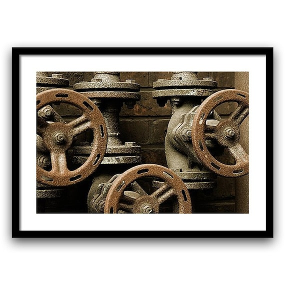 Fine art photography, Urban Decay. Abandoned Industry, 5x7, 8x10 Wall Art, Home Decor, Green, Brown, Fine art print