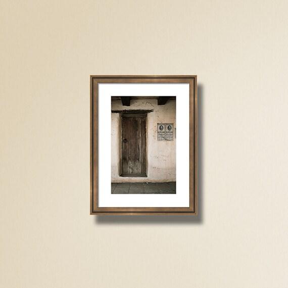 Rustic Wall Decor, Door Photography, Urban Photograph, Western Art, Door Print, Brown Beige Blue Picture