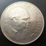 1965 Crown Coin Minted to commemorate the death of Sir Winston Churchill in 1965 in good circulated condition.