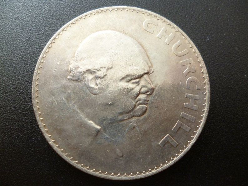 1965 Crown Coin Minted to commemorate the death of Sir Winston image 0