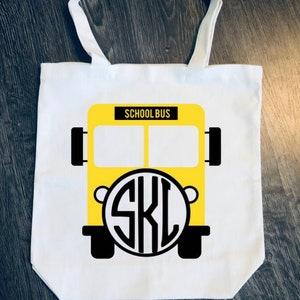 Bus Driver Tote Bag Monogram Monogrammed Personalized