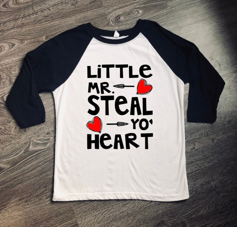 91ce06391 Little Mr. Steal Yo Heart Shirt Valentine Shirt Boy's | Etsy
