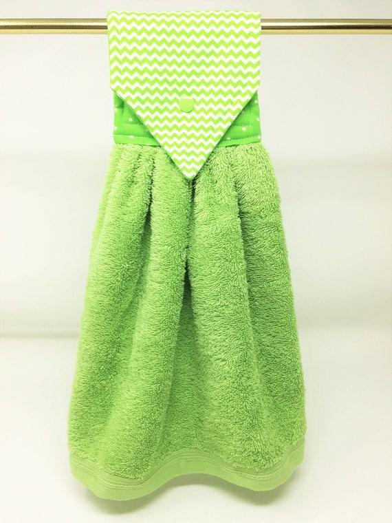 Lime Chevron Hanging Hand Towel, Lime Green Kitchen Towel, Lime Kitchen  Hand Towel, Lime Chevron Oven Towel, Lime Chevron Kitchen Decor