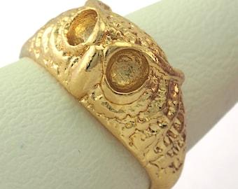 Raw brass OZ3853 Signet Ring  Adjustable Ring Bezel Blank 17mm 6.5US inner size - Adjustable
