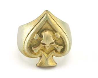 Cage Adjustable Ring Raw brass 18mm 7.5US inner size - Adjustable OZ2728