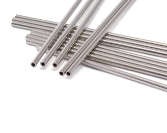 Himmeli Silver Tone (Nickel Free) Copper Tubes Beads 2.5x40mm  Cek002-90