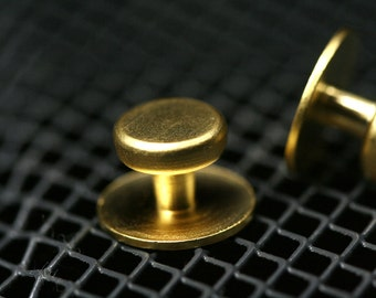 brass studs, shirt collar tuxedo stud, 4 pcs  12 x 8 mm gold plated industrial 1008