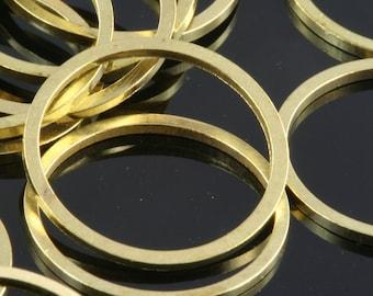 Raw Brass Ring 16 mm (hole 14 mm) (100 pcs)  bab14 35 1675