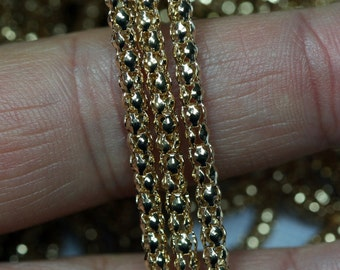 Hollow Mesh chain yellow tone 3.2 mm 1470
