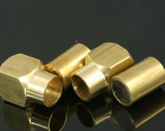 "Magnetic clasp leather cord 5 pcs 16 x 8 mm 5/8"" x 5/16"" raw brass solid brass 6 mm 1/4"" leather cord magnetic clasp MCL 1163"