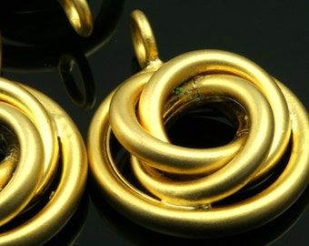 1 pc 36 mm gold plated brass finding charm pendant 578