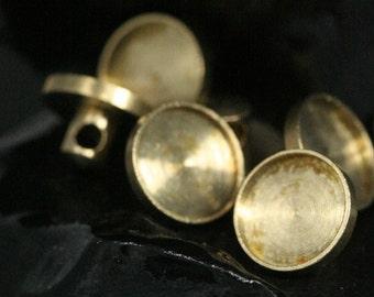 raw brass button 8 mm setting 1771