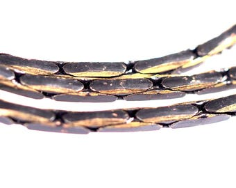Square snake chain 1.6mm black antique brass sparkle bright faceted