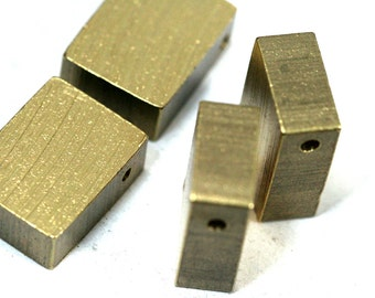 "Raw Brass  stamping 2 pcs D412 20 x 15 x 8 mm 0,79"" x 0,6"" x 0,30""  finding rod industrial design (2,4 mm  0,094"" 11 gauge hole ) 1747"