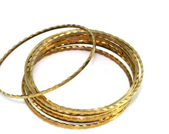 15 pcs Raw Brass round faceted Ring 45 mm 1687