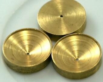 4 PCS Raw Brass 15x3,5 mm Pendant finding Setting Findings