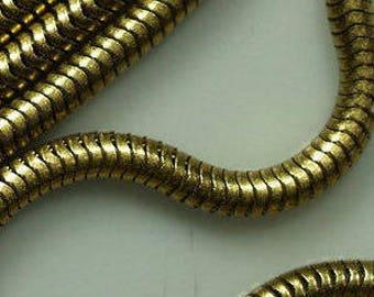 Raw Brass Snake Chain 4.2 mm  0,17 inch
