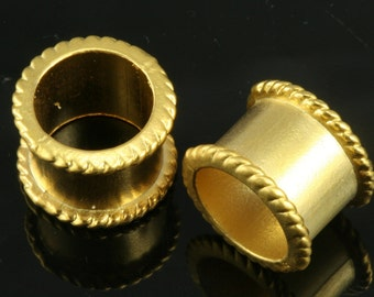 3 pcs 12 x 16 mm gold plated alloy spacer bead 11,5 mm bab 420