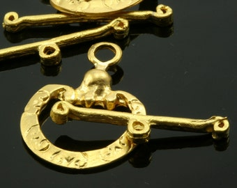 2 sets gold plated alloy 22x30 mm toggle clasps ,findings 677