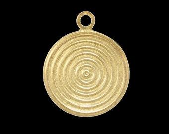 60 pcs 16 mm raw brass circle textured ,raw brass  charms ,raw brass  pendant. raw brass findings 135R-48