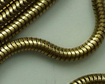 Raw Brass Snake Chain 2.4 mm  0,094 inch