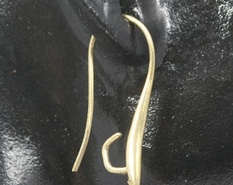 20 pcs  24 mm raw brass earring hook with holder 1263R